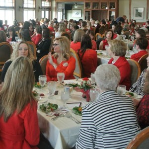 Nearly 200 people filled Oak Hills Golf and Country Club for the second annual Wear Red for Women event, raising thousands of dollars for the awareness and prevention of heart disease in women.