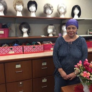 Kristy Blanchard got supplies like head scarves at the Cancer Resource Center inside Mercy's O'Reilly Cancer Center.