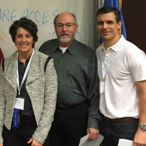 From left: Oklahoma Physical Therapy President, Bridget Finley; David Johnson, PT, PhD; Mark Brown, PT