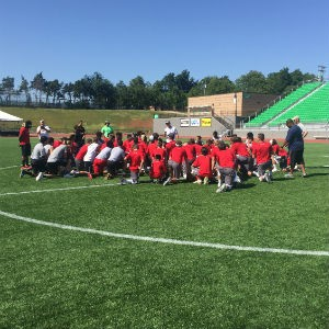 The camp was held July 15-17 at Taft Stadium and the Boathouse District