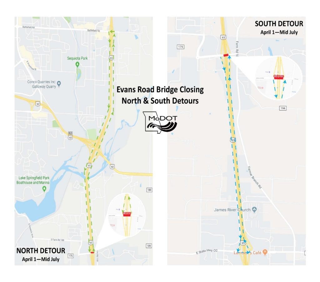 Evans Road Closure Detours