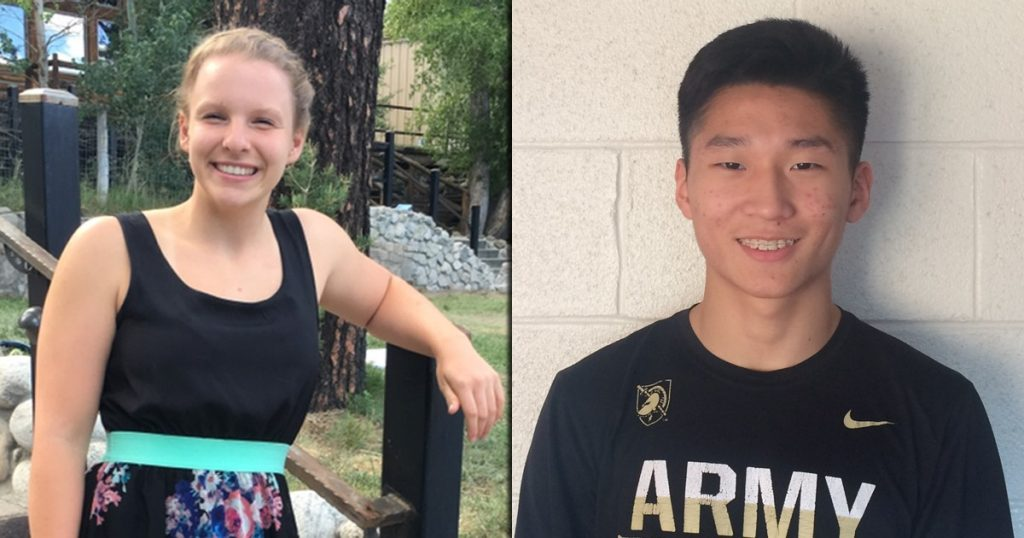 Kristen Votava and John Kim - January Mercy Sports Medicine Athletes of the Month
