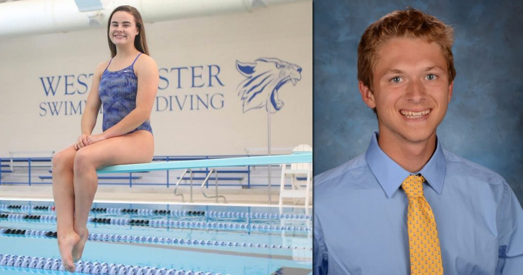 Omeara and Haskins - May Athletes of Month