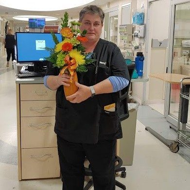 Dana Smith, emergency department, was honored with a Daffodil Award for the compassionate care she provides at Mercy Hospital South.