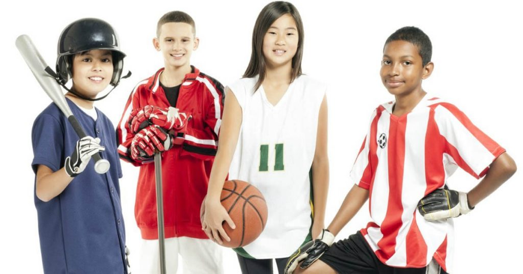 kids in sports uniforms
