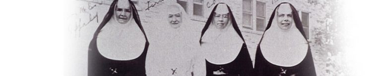 historical photo of four sisters of mercy