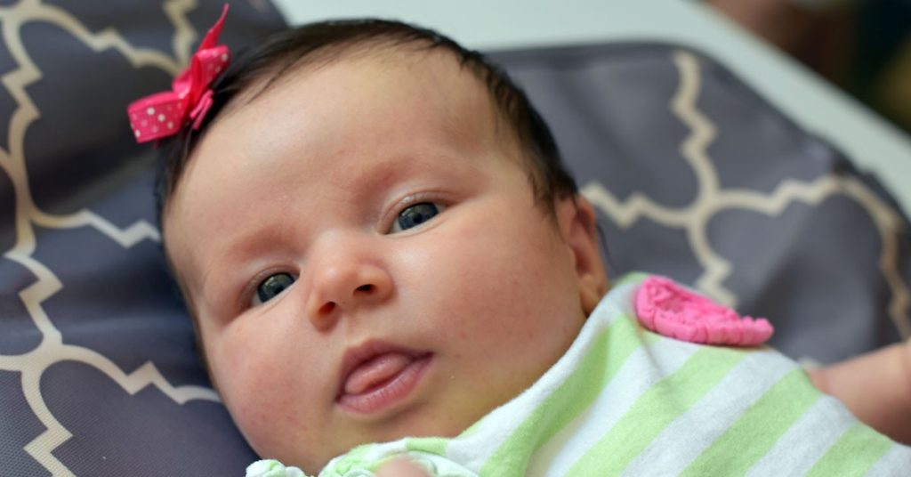 Infants' eyes should work in a coordinated manner by 4 months.