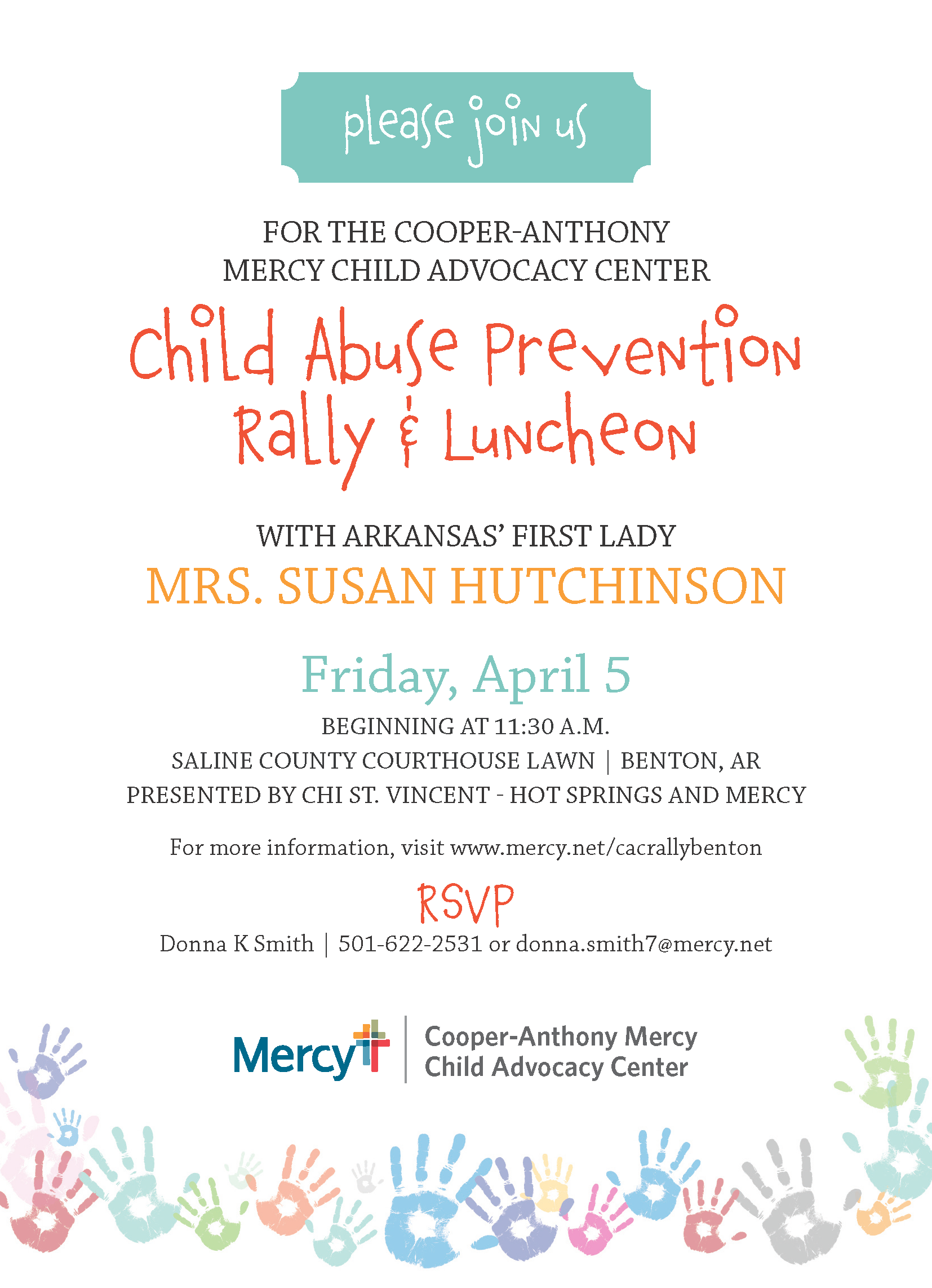 Child Abuse Prevention Rally & Luncheon 4-5-2019