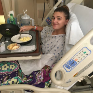 Chelsea Walker was hospitalized at Mercy for less than one week after doctors found an abscess on her brain