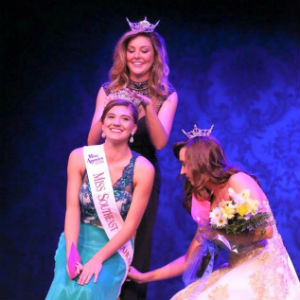 Chelsea Walker, 21, being crowned the title of Miss Southeast Oklahoma. Less than one month later, she was hospitalized in the ICU
