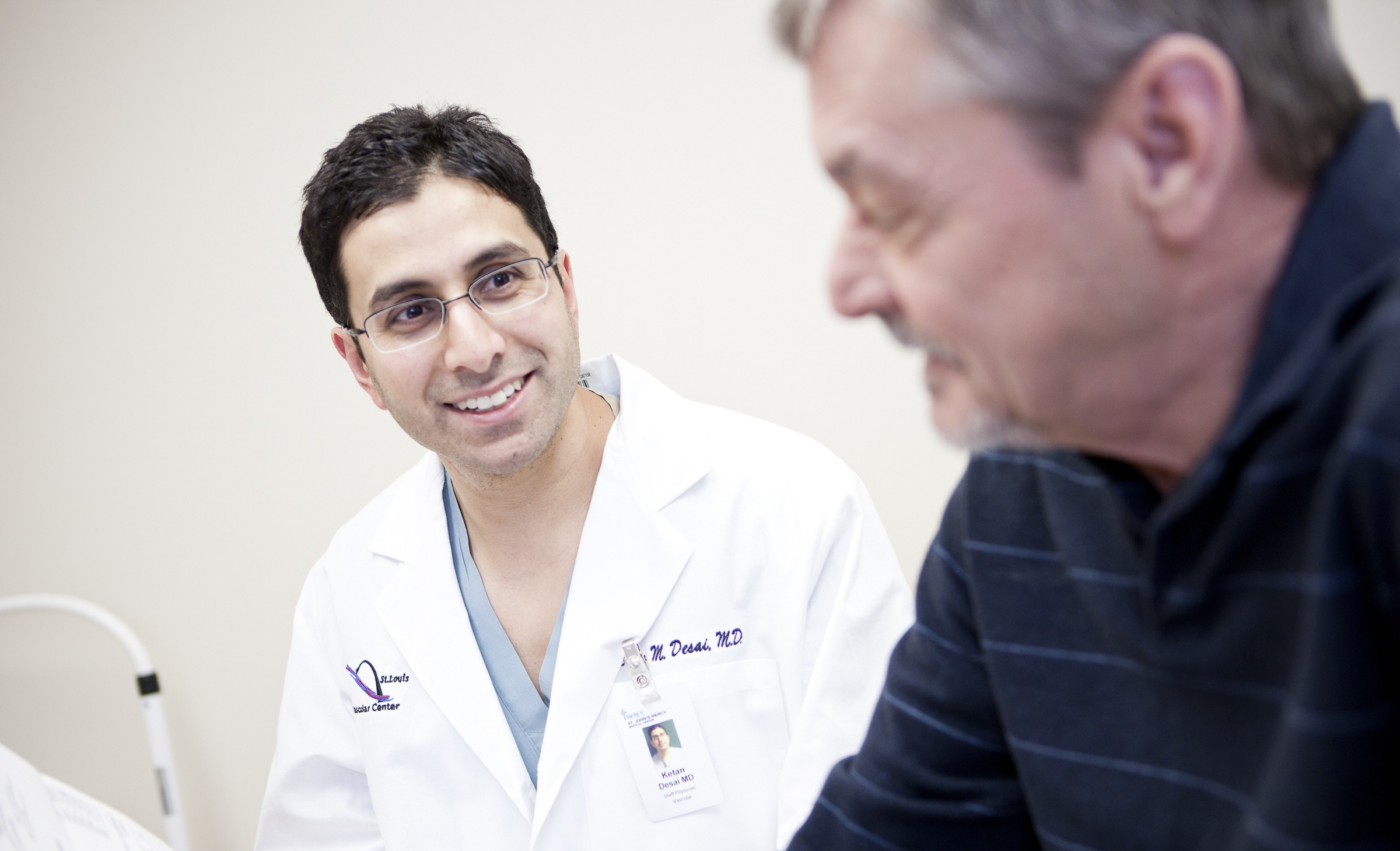 Dr. Ketan M. Desai, Mercy Clinic vascular surgeon, is available for appointments in Troy.