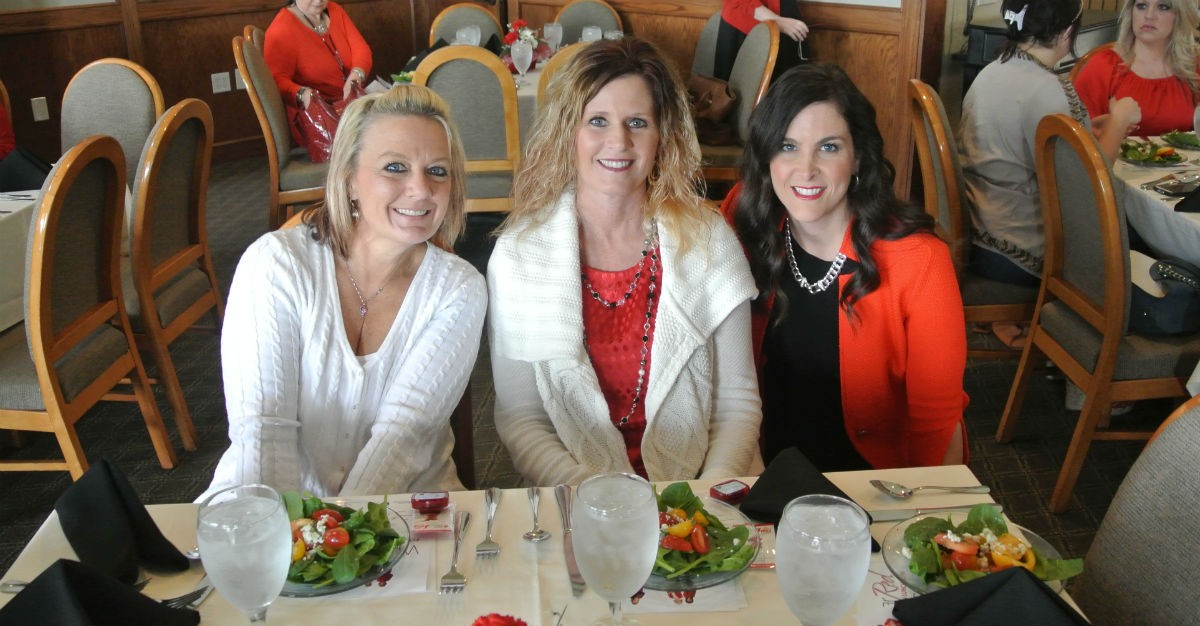 Nearly 200 women in red attend the 2016 Wear Red for Women Luncheon, raising thousands of dollars for the awareness and prevention of heart disease in the Ada community.
