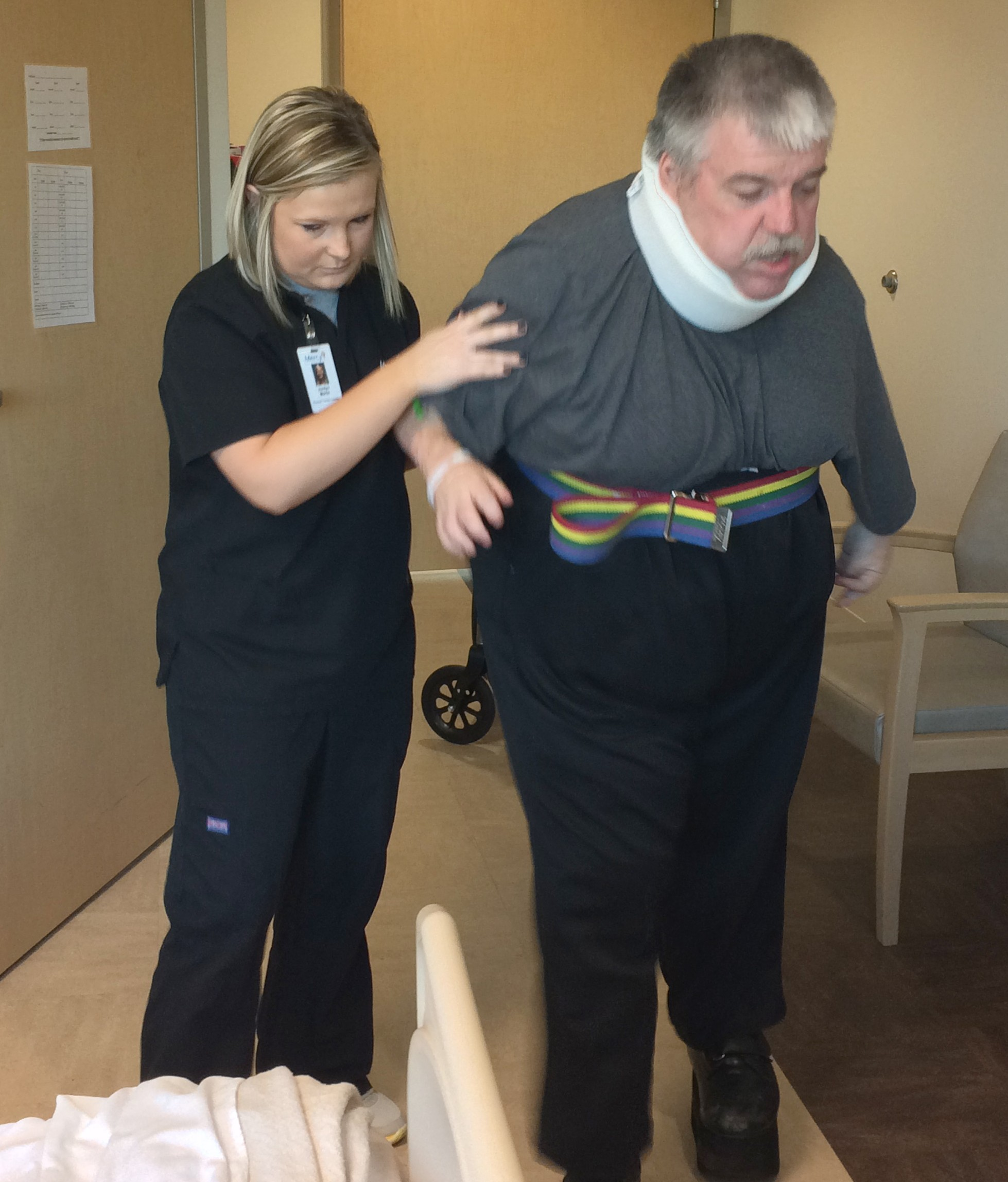 Patient Greg Redfern walks again after a stay at Mercy Rehabilitation Hospital Springfield. Mercy's three dedicated rehabilitation hospitals all rank in the top 10 percent for how well their patients recover from serious illness or injury.