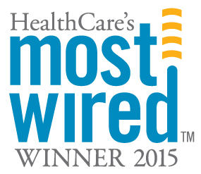 HealthCare's Most Wired Winner 2015 logo