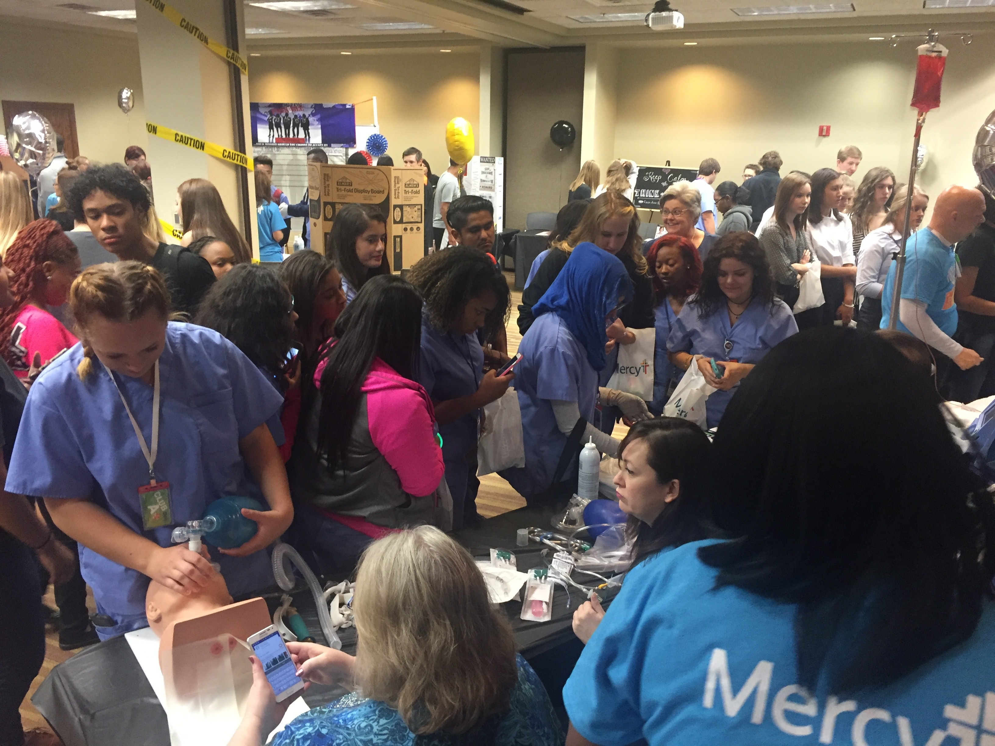 More than 1,200 students from 12 metro-area schools attended Mercy's High School Career Exploration Day at Mercy Hospital Oklahoma City