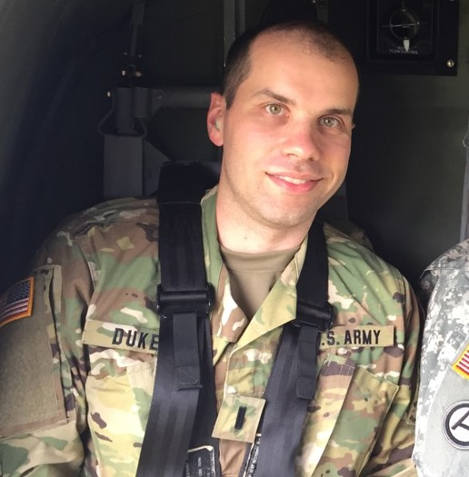 Jonathan Dukes serves in the U.S. Army Reserve's 325th Combat Support Hospital unit.
