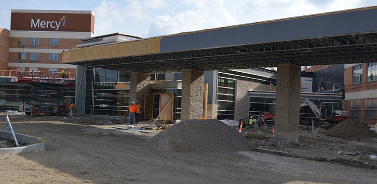 The new Main Entrance for Mercy Hospital Jefferson is scheduled to open on May 22.