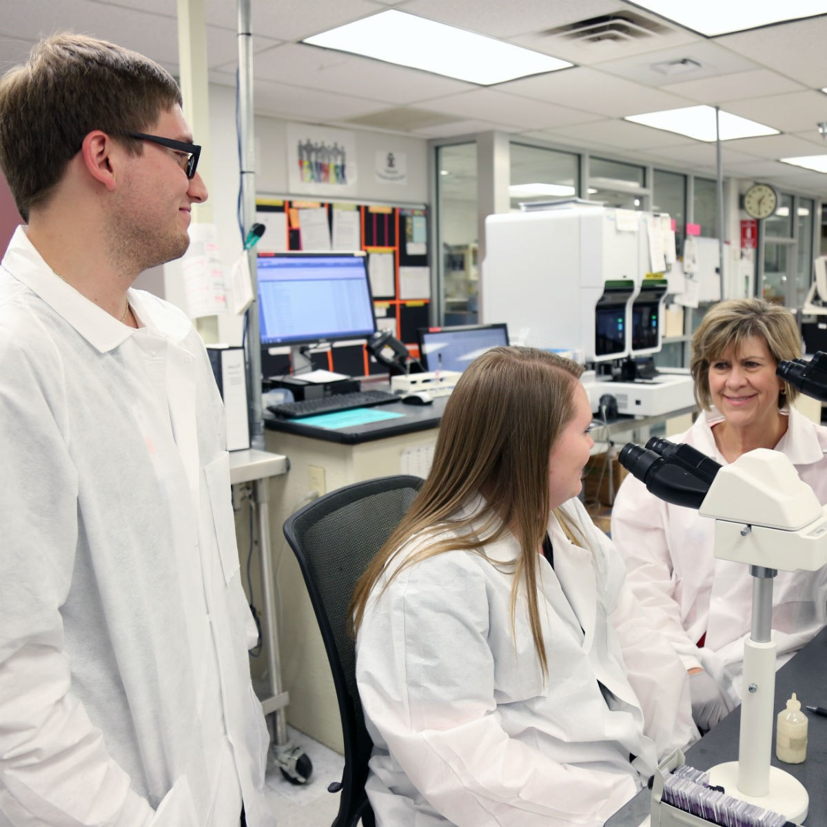The MLS program at Mercy Hospital Ardmore is in its third year and is accredited by the National Accrediting Agency for Clinical Laboratory Science