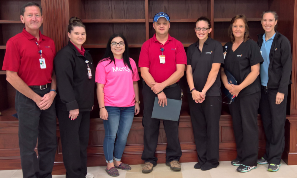 Volunteers from Mercy Hospital Watonga help students develop life skills such as better decision-making, communications and relationship-building.