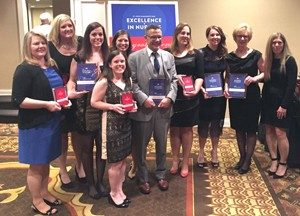 Mercy nurses who were finalists in the 2016 Excellence in Nursing awards.