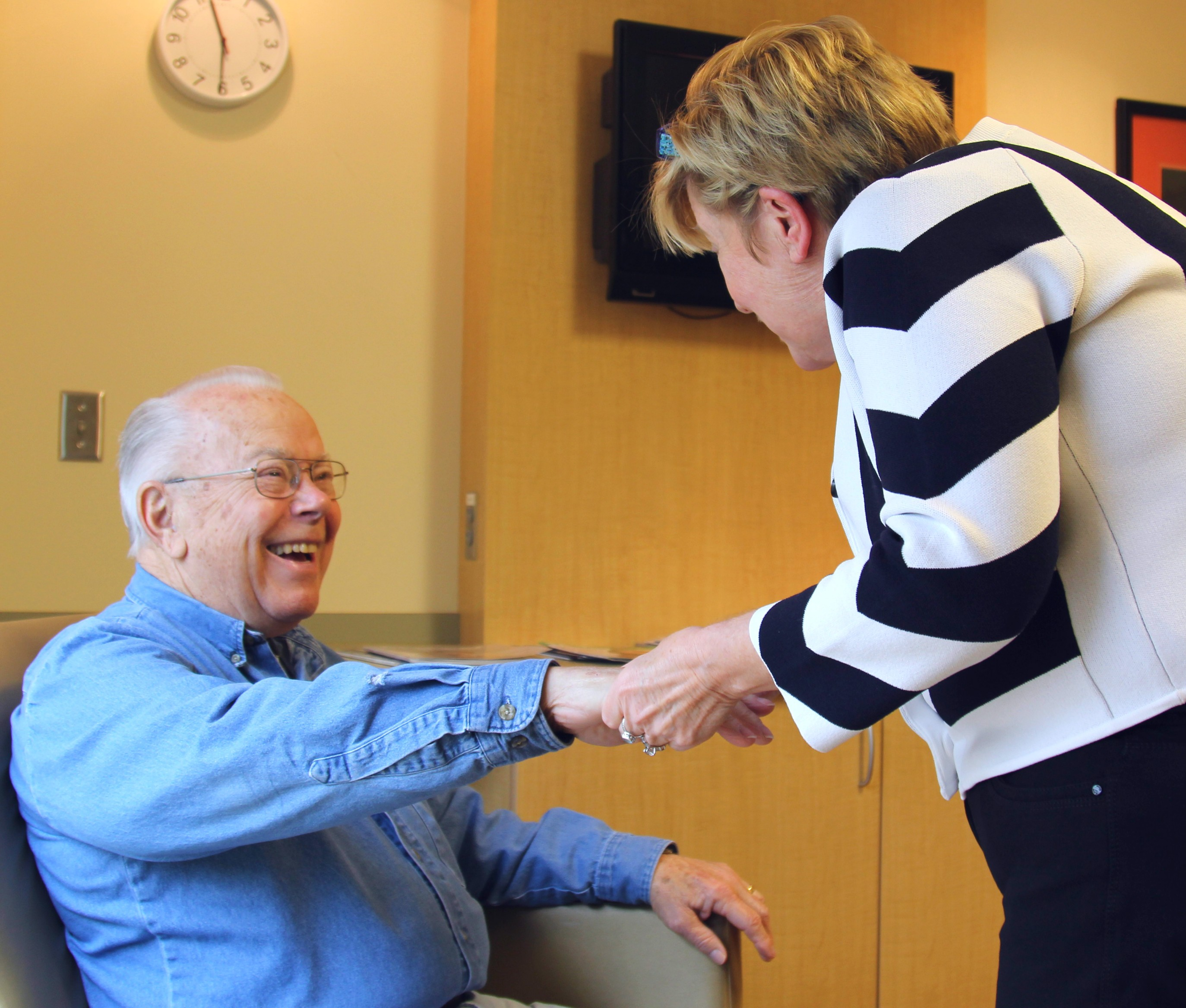 Bill Woods is happy to be free of pain after being cured of debilitating pain by Dr. Anne Winkler of Mercy Clinic Rheumatology – Carthage.