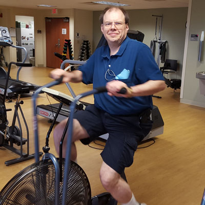 Michael Kramaer, now in cardiac rehab, was shocked back to life four times by the LifeVest.