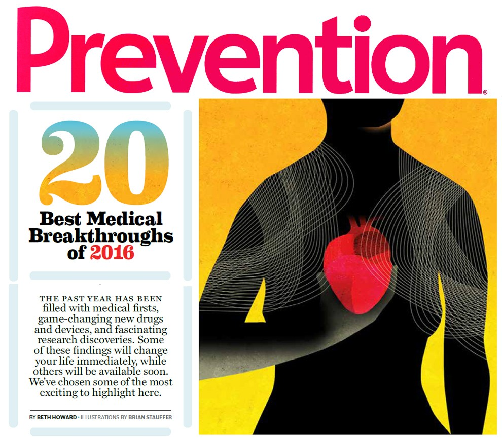 Article featuring Mercy Virtual appears in Prevention Magazine's December 2016 issue.
