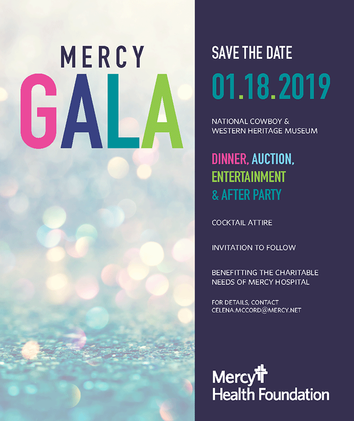 Mercy Health Foundation Gala Save the Date 1.18.19