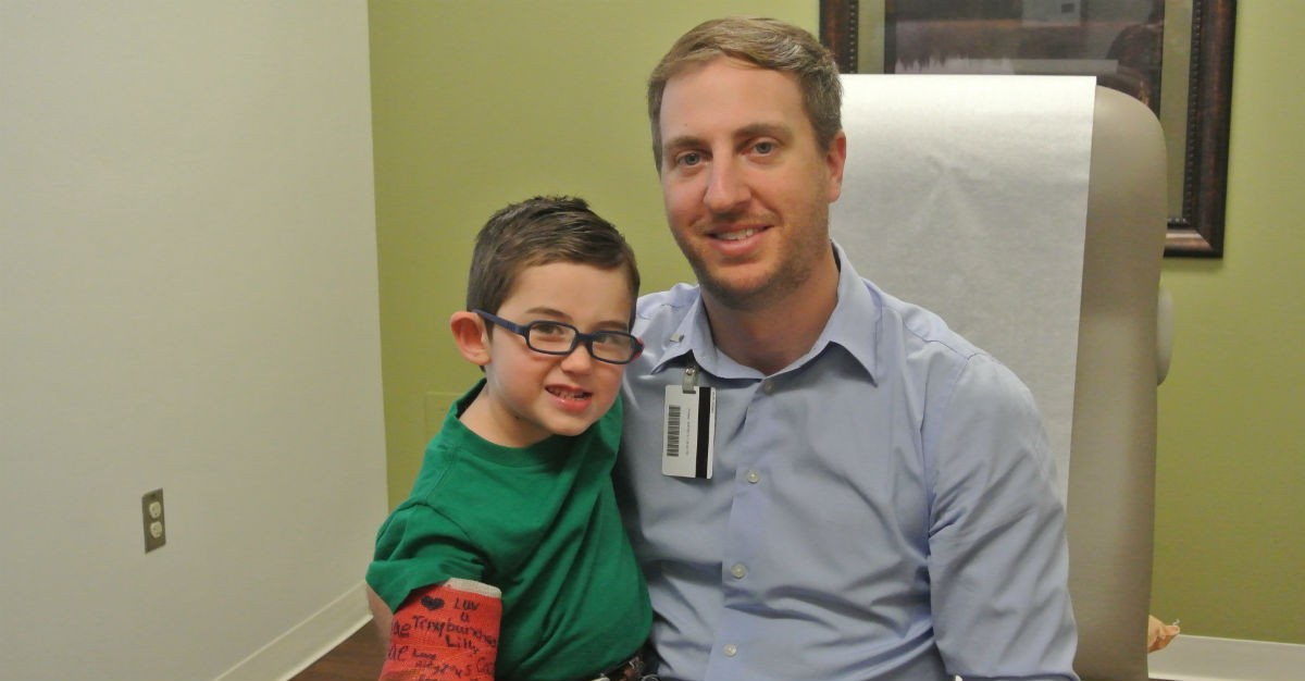 """We couldn't ask for a better doctor for our 3-year-old,"" Katy Perez said of Dr. Cody Curry."