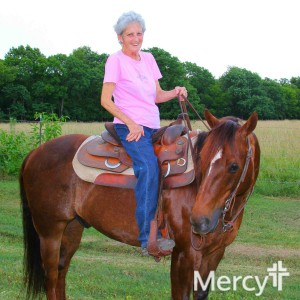 Pam Giger can enjoy life again, including riding horses, now that she has her rheumatoid arthritis under control.