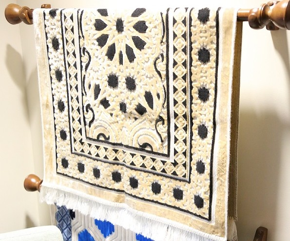 Prayer rugs are available in the interfaith room at Mercy Hospital Fort Smith.