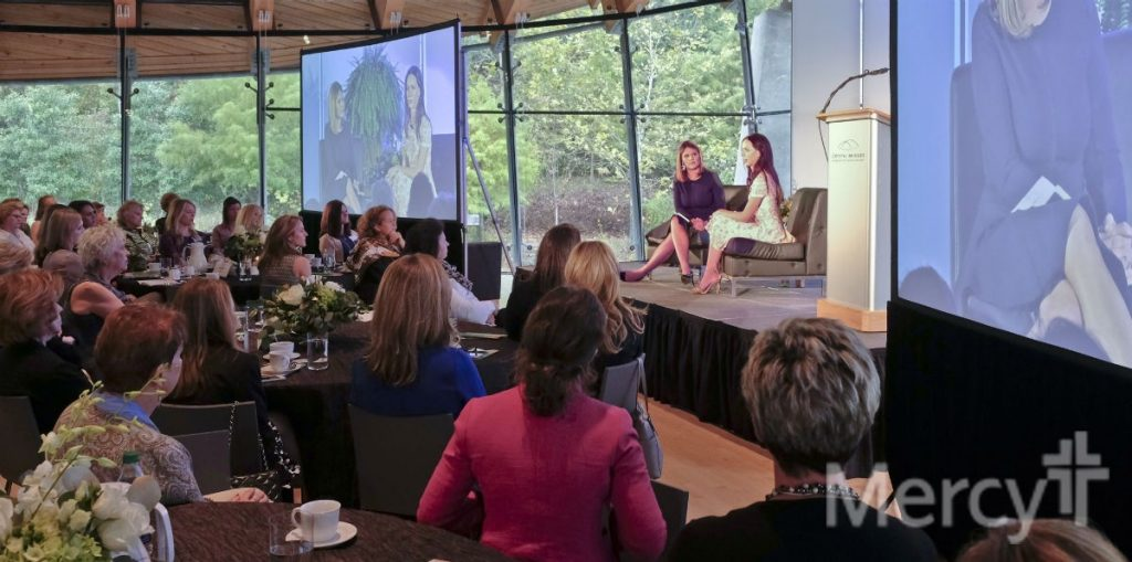 "Jenna Bush Hager and Barbara Pierce Bush address members of Women with a Mission at the Oct. 26 ""Day of Inspiration."""