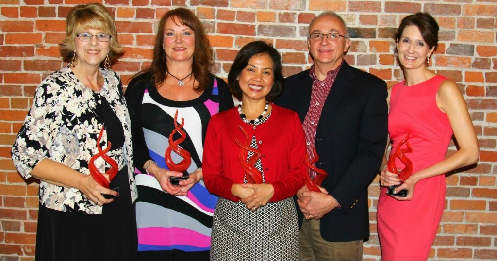 Mercy Joplin's Salute to Health Care honorees, from left, are Kathy Newkirk, Tracey Spurgeon, Dr. Eden Esguerra, Dr. David Croy and Dr. Gretchen Shull.