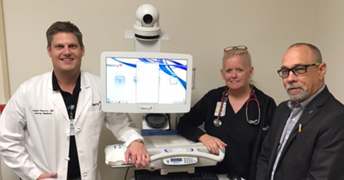 The Tishomingo team will use a telemedicine cart to connect with specialists in other Mercy areas.