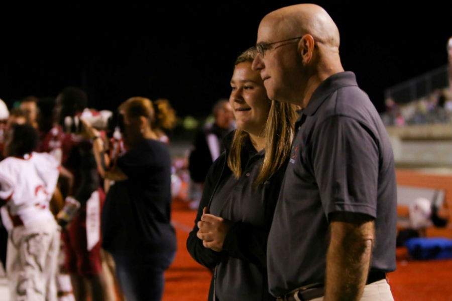 Dr. Troop attends nearly every Ardmore Tiger football game to ensure the safety of the athletes.