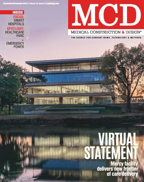 The cover of the November/Decemer 2016 issue of Medical Construction & Design.